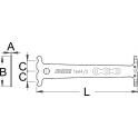 Unior vérificateur d'usure de chaîne